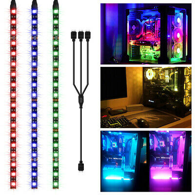 PC RGB GAMING LED Strip Lights Case Lighting Gamer DIY for Aura Sync