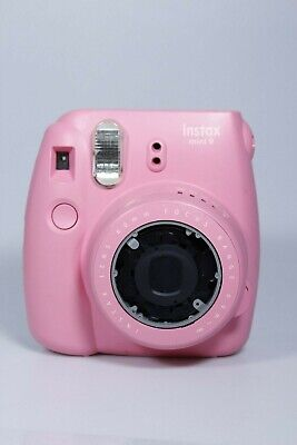 FUJIFILM Instax mini 9 FLAMINGO PINK 60MM FOCUS 0.6M NO BATTERY COVER (FAULTY)