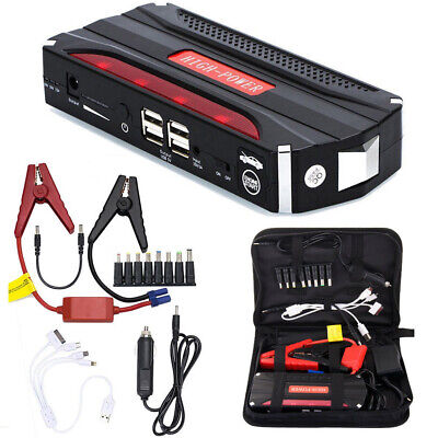 68800mAh Car Jump Starter 12V Vehicle Booster 4 USB Battery Charger Power Bank
