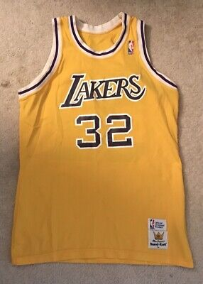 innovative design cd4d0 e8218 Magic Johnson Los Angeles Lakers MacGregor Sandknit Vintage Jersey Large NBA