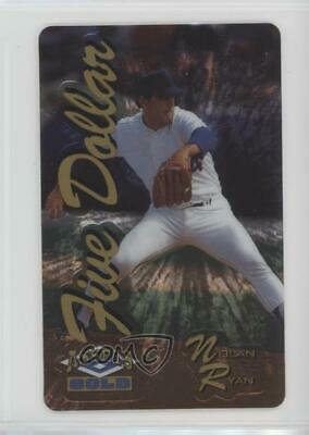 1995 Classic Assets Phone Cards $5 Gold Etched Foil/1729 Nolan Ryan Card