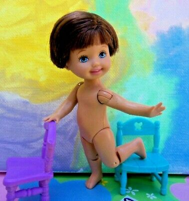 Kelly Tommy Ryan Chelsea Doll No Clothes *1 Pr Periwinkle Blue Tennis Shoes*