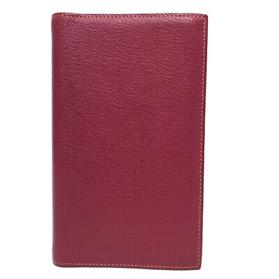 AUTHENTIC HERMES Ajanda Vision 2 Bicolor Notebook Cover Orange/Pink Chevre
