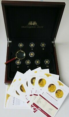 Macquarie Mint 2012 Smallest 7 Gold Coins of the World Collection w/ Bonus Coin