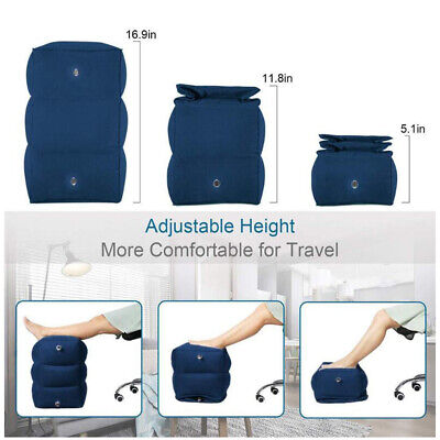 Inflatable Foot Rest Travel Air Pillow Cushion Office Leg Up Footrest Relax AU