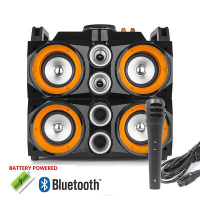 Portable Stereo ULTRASOUND V4 - Way Speaker System with Bluetooth & Lights