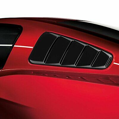 Accessories Rear Side Window Louvers Shutters Trim For 2015-2017 Ford Mustang