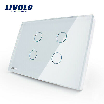 Livolo US standard Wall Light Touch Switch 4gang 1way switch