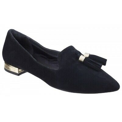 Rockport TOTAL MOTION ZULY Ladies Women Casual Slip On Suede Tassel Loafer Black