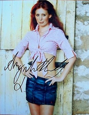 AMY NUTALL: Sexy 8 x 10 Hand signed photo. Emerdale, Downton Abbey. COA.