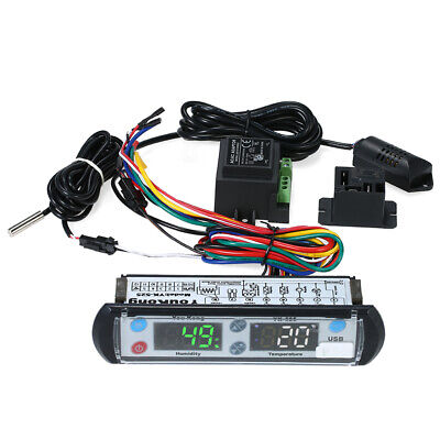 YouKong Digital Temperature and Humidity Recording Controller 220V Reptile Q9E3