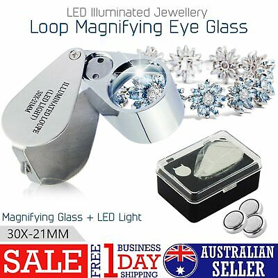 Pocket Jewellers Eye Loupe Magnifier Jewelry Magnifying Glass 30 x 21mm Jewelers