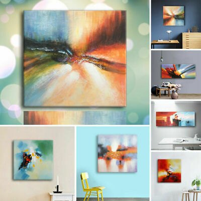 Hand Painted Abstract Oil Painting Modern Wall Art Home Decor On Canvas Framed