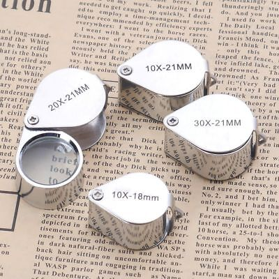 Triplet Jeweler Eye Loupe Magnifier Magnify Glass Jewelry Diamond with Box Gift