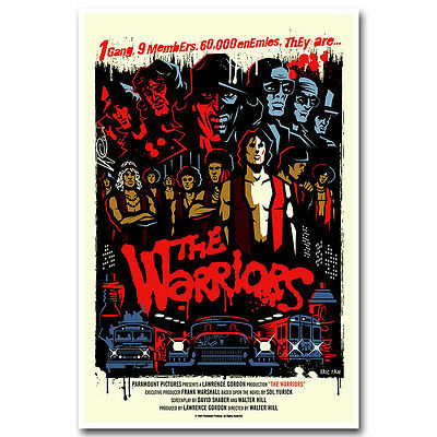 The Warriors Michael Beck Swan Silk Movie Poster Print 13×20 24×36inch