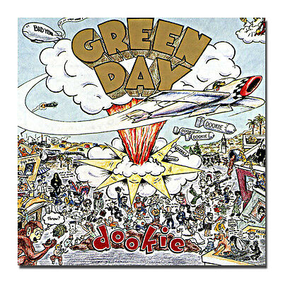 GREEN DAY Dookie Album Cover Silk  Art Poster 13x13 24x24 inches