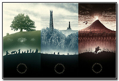 The Lord Of The Rings 1 2 3 Movie Art Silk Poster Print 13x20 24x36 inches