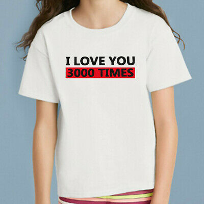 Toddler Baby Kids Girls Boys I Love You Letter Printed T-shirt Tops Clothes