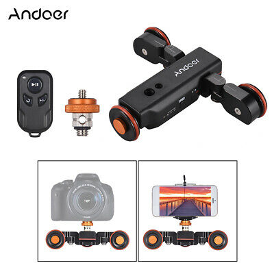 Andoer L4 Electric Auto Dolly Video Car Motorized Track Slider for Canon U1S2