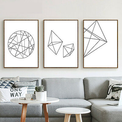 Abstract Geometry Canvas Poster Nordic Minimalist Art Prints Home Wall Decor