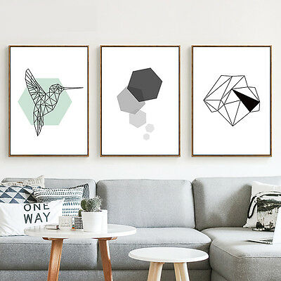 Abstract Minimalist Geometry Canvas Poster Nordic Art Prints Home Wall Decor