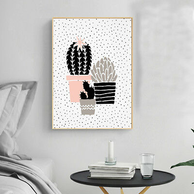 Cartoon Cactus Plants Canvas Poster Abstract Art Prints Modern Wall Home Decor