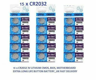 15 x CR2032 BR2032 DL2032 Branded 3V LITHIUM Coin Cell Button Batteries
