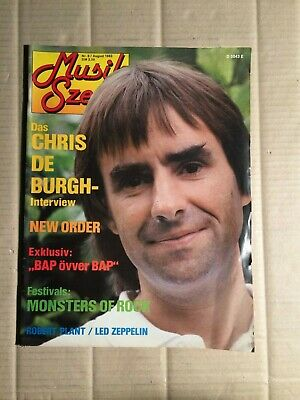 Musik Szene - Aug/1983 - Chris De Burgh / New Order / Bap   (Da166)