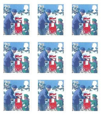 9 x  2nd  Class | Royal Mail GB Stamps (Peelable) unfranked  value value £5.49