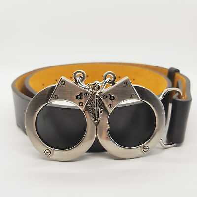 Handcuffs Key Belt Buckle Chrome Gothic Emo Biker Rock Punk Feeanddave