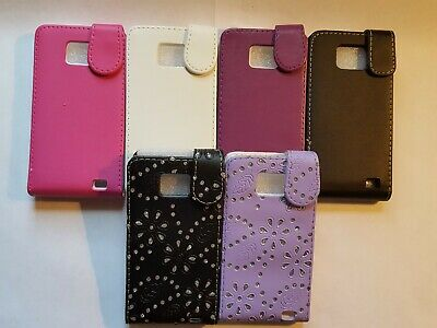 Vertical style PU leather flip phone case, cover to fit Samsung Galaxy S2 i9100