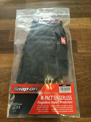 Snap-On Tools M-Pact Fingerless Impact Protection Gloves Brand New Size Large