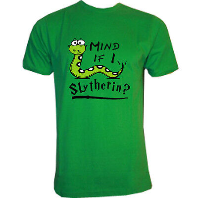 mind if I slytherin?, hogwarts tribute tshirt, s-3xl adults, kids 5-15 years,