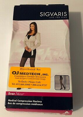 Sigvaris 782PSSW94 EverSheer 20-30mmHg PANTYHOSE Compression Stockings Nuit