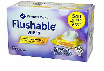 Member's Mark Flushable Wipes (9 pk., 60 wipes per pk.)