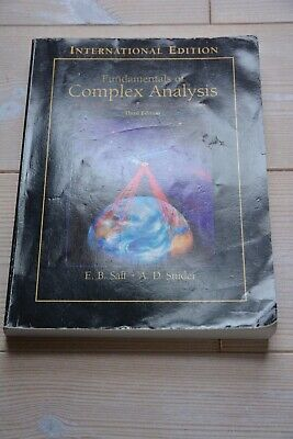 E.B. Saff; A.D.Snider: Fundamentals of complex analysis with applications