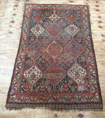 Antique Geometric Khamseh Tribal Handwoven  Rug