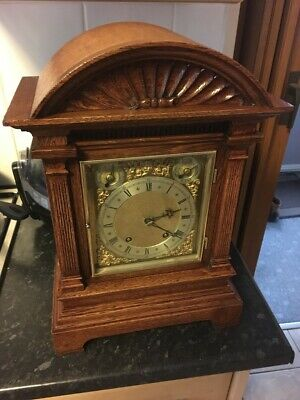Winterhalder and Hofmeier  oak quarter strike bracket clock.