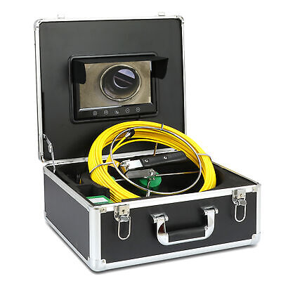 "30M Sewer Waterproof Camera Pipe Pipeline Drain Inspection System 7""LCD HD DVR"