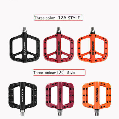 Mountain Bike Bicycle Bearing Pedals Cycling Wide Nylon Pedals  for RockBros