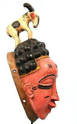 Art African - Beautiful Mask Gouro - RAM in Crested - Coin Village