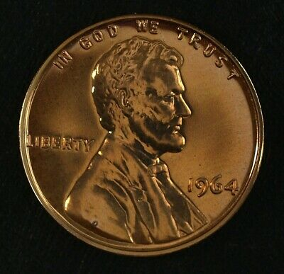 1964 Proof Red Lincoln Cent ☆☆ Gorgeous Details ☆☆ Flashy Red Mirrors ☆☆ 64E