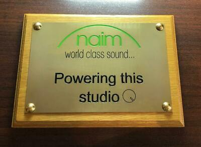 """Solid Polished Brass Plaque - 200 mm by 150 mm - 8"""" by 6"""" inch - Engraved"""