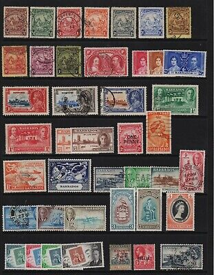 Barbados - 42 old stamps - cat. $ 86.15