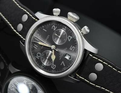 bb02b0be4 Hamilton khaki pioneer auto chrono H60416583 mechanical automatic winding  ETAH31
