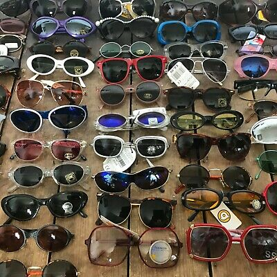 Wholesale Job Lots ~  15 Pairs Of Deadstock Vintage Sunglasses (Mixed Unisex)
