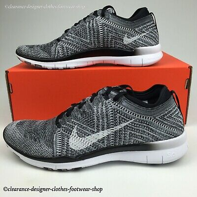 size 40 d8527 a5a48 Nike Free Tr Flyknit 5.0 Trainers Womens Running Oreo Free Run Shoe Uk6 Rrp  £130