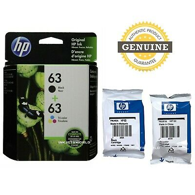 GENUINE HP 63 Black/Color Ink Cartridge Combo-for HP1112 3632 3634 3637 Printer