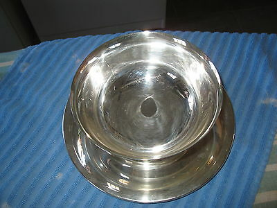 Wallace Silver  Serving Bowl And Attached Plate, Vintage