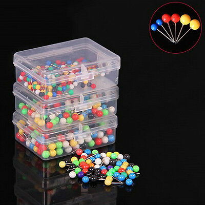 100x Dress Wedding Craft Pearl Round Head Straight Sewing Needle Pins Corsage IT